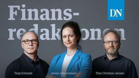 Promobilde podkasten Finansredaksjonen med Terje Erikstad, Janne Johannessen og Thor Christian Jensen