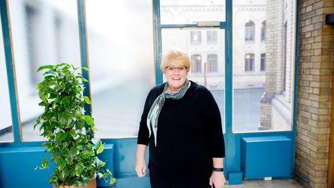 – Jeg håper at de som er i regjering lærer seg å puste med magen og skjønner at de ikke har flertall, sier Venstre-leder Trine Skei Grande. Foto: