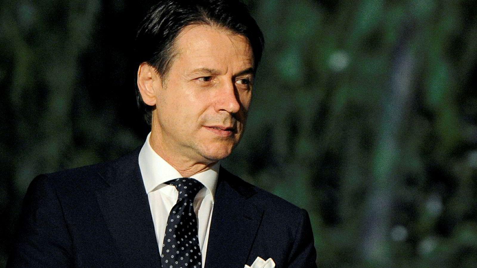 Italias statsminister Giuseppe Conte er ikke Brussels mest populære mann i øyeblikket.