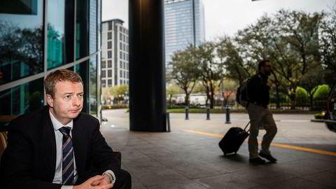 Olje- og energiminister Terje Søviknes, her avbildet i forbindelse med oljemessen i Houston i mars.