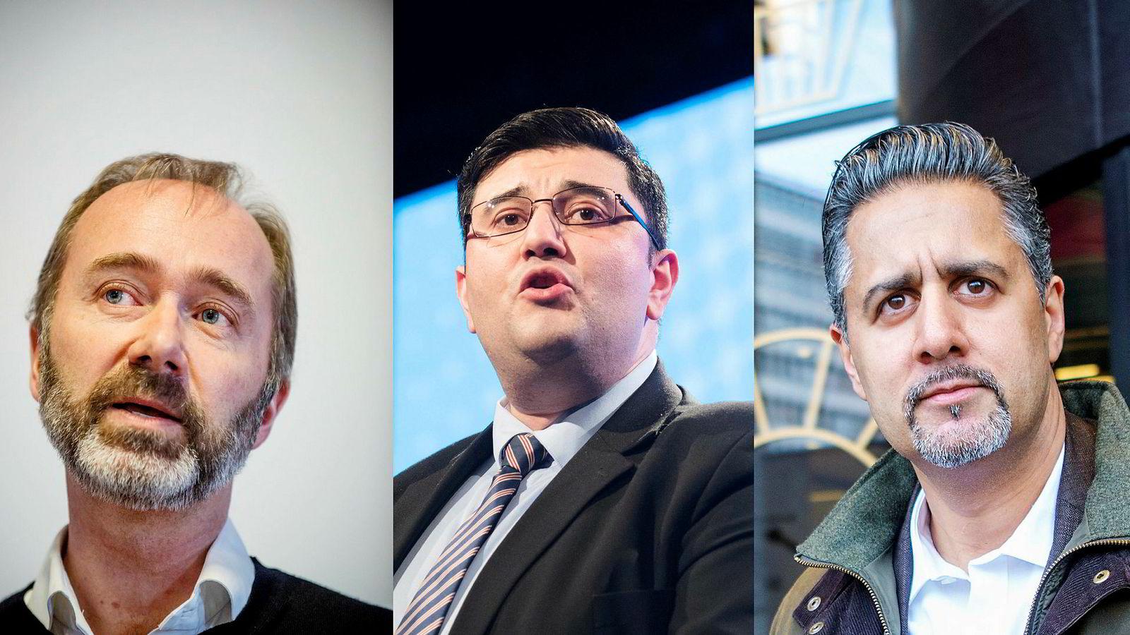 Topp-politikerne Trond Giske, Mazyar Keshvari og Abid Raja har det til felles at de ble sykmeldt etter stormfulle hendelser.