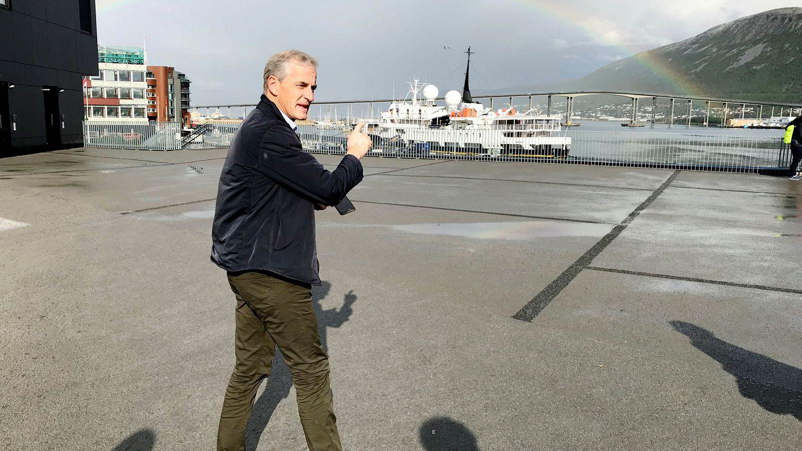 Er det gull i enden av regnbuen? Og velferdsprofitt i enden av fondsinvesteringen? Ap-leder Jonas Gahr Støre så i alle fall en regnbue da han var på valgkamp i Tromsø sist uke.