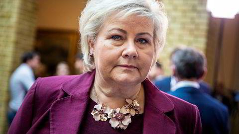 Lite å glede seg over for statsminister Erna Solberg i fersk meningsmåling.