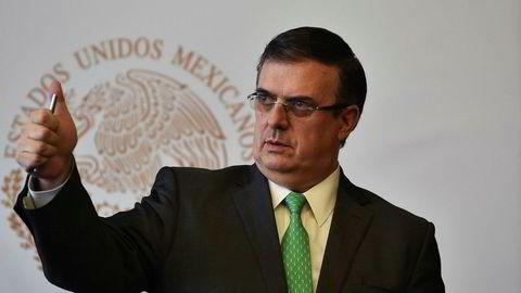 Mexicos utenriksminister Marcelo Ebrard.