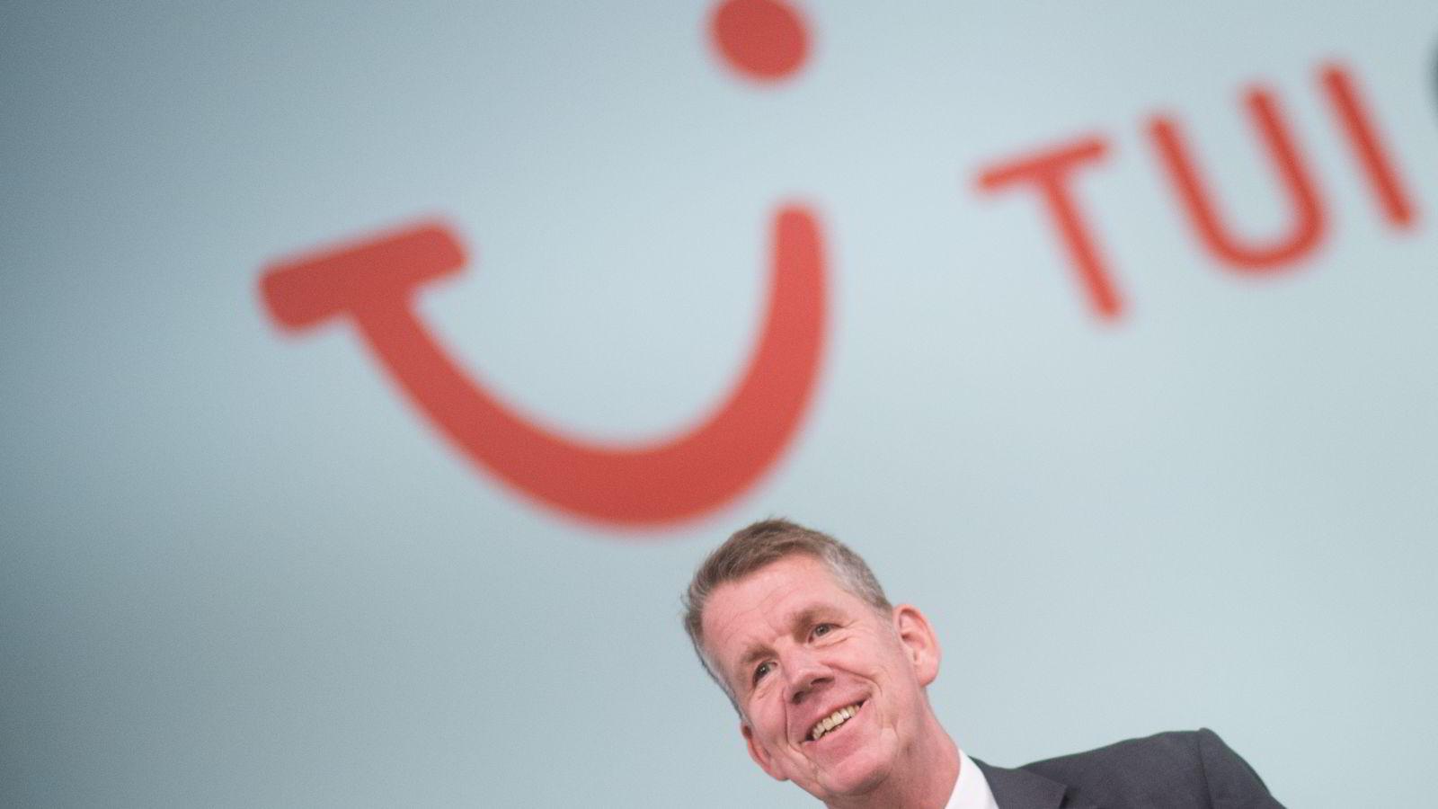 Tui-sjef Friedrich Joussen, her fra reiselivskonsernets generalforsamling i februar, 2016. Foto: Afg/Julian Stratenschulte