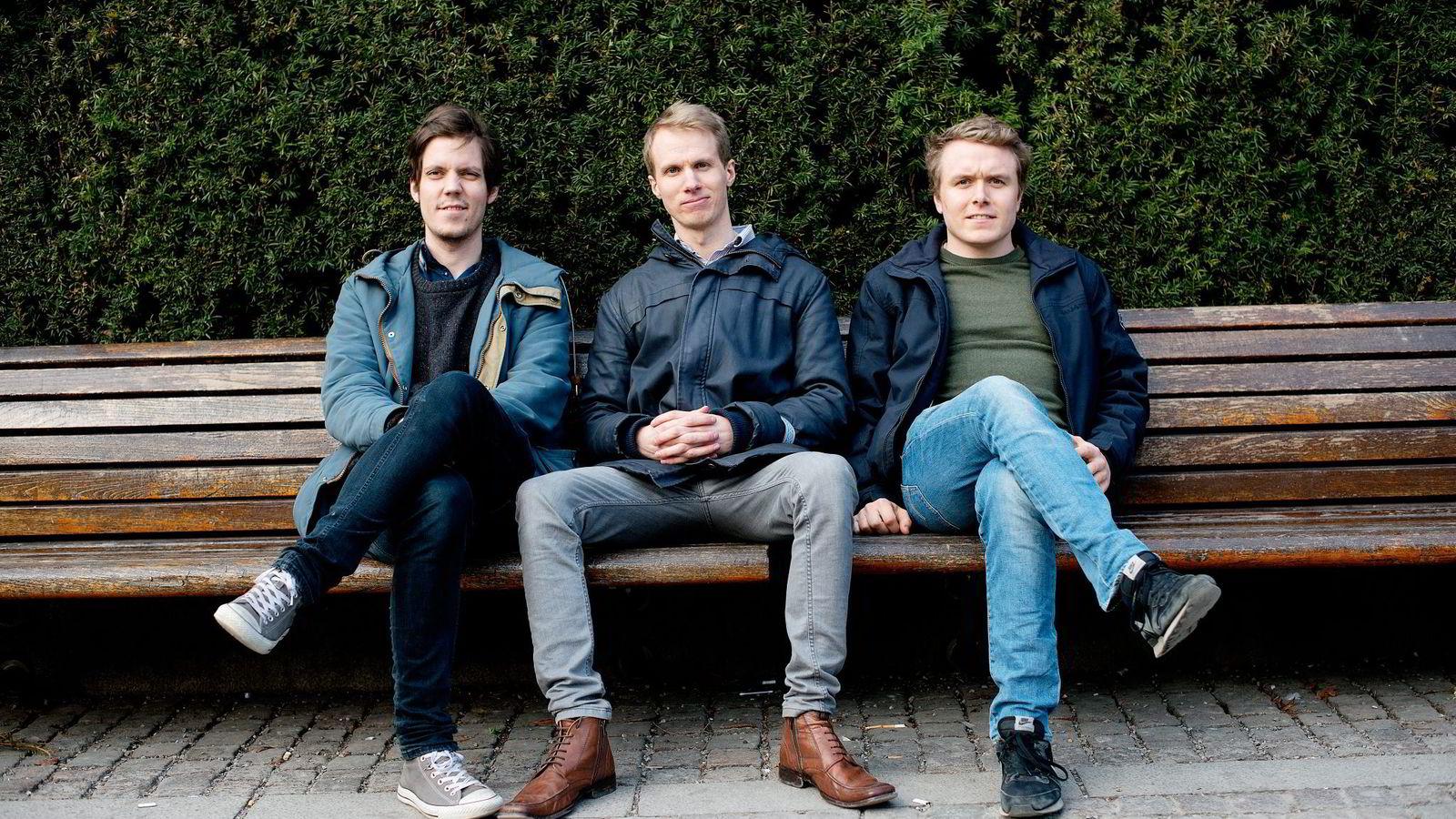 Oslo-bandet Acres Wilds nyeste låt «Line of Sight» hoppet fra rundt 1000 til 100.000 avspillinger etter at den ble listet på Spotifys «Fresh Finds»-liste. Simen Følstad Nilsen (fra venstre), Magnus Askjer Lefsaker, Even Zielser Andenæs.