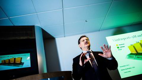AVTALTE. Administrerende direktør i Vizrt, Martin Burkhalter. Foto: Gunnar Blöndal