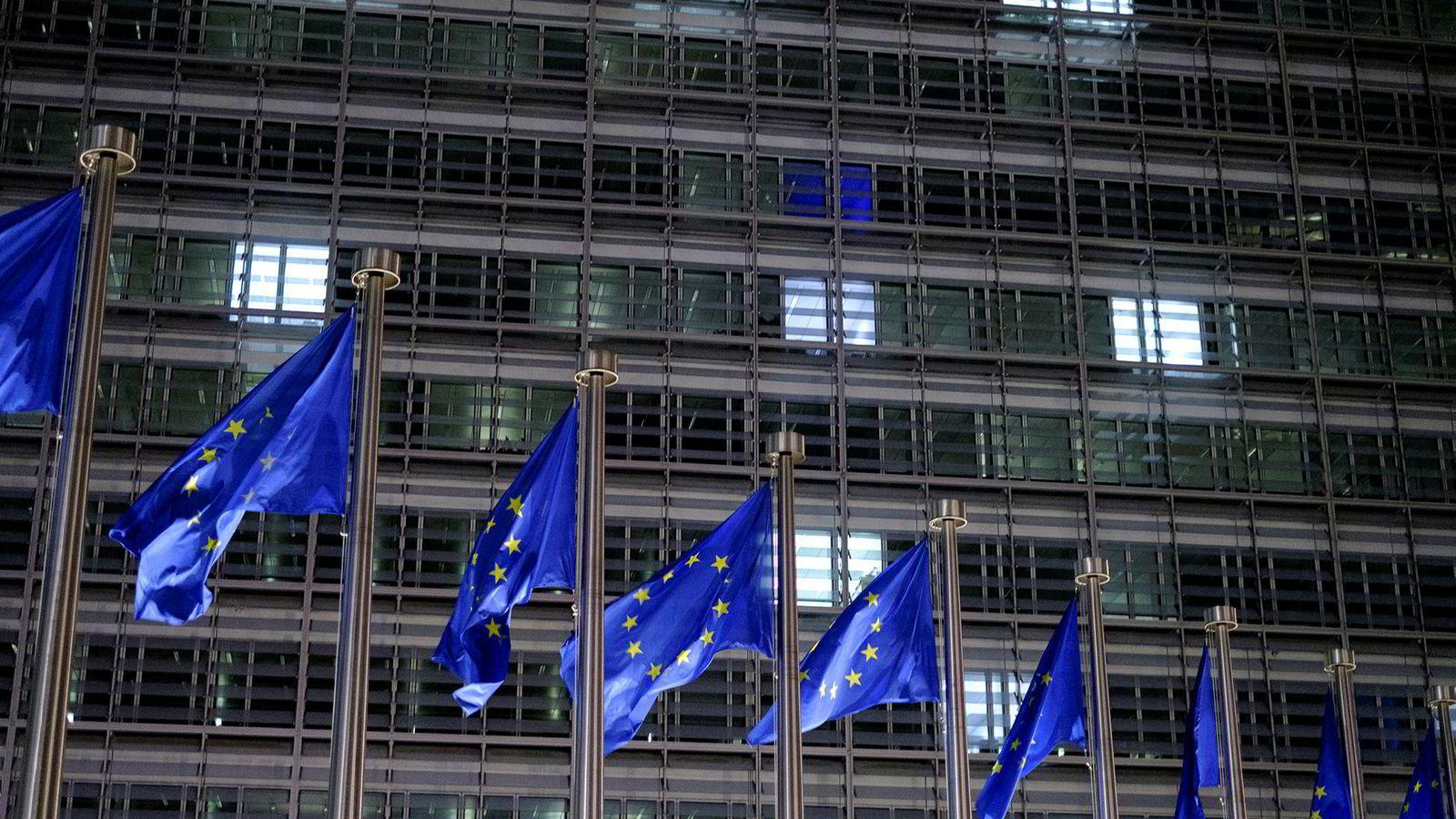 EU-domstolen sa nylig nei til kravet fra minoritetskreditorer om at den europeiske sentralbanken skulle dekke tapet restruktureringen av greske statsobligasjoner hadde påført dem. Her Berlaymont-bygningen i Brussel.