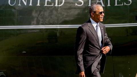 USAs president Barack Obama retter sterk kritikk mot FBI. Foto: Zach Gibson/AFP/NTB Scanpix