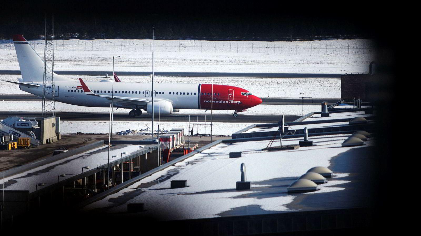Norwegian-fly på Gardermoen.