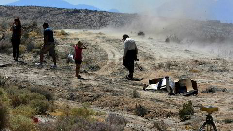 Ridgecrest i Sør-California etter skjelvet torsdag. Fredag har et nytt kraftig skjelv funnet sted.