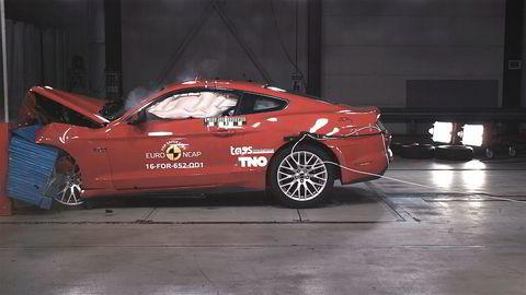 Ford Mustang er kollisjonstestet av Euro NCAP. Det gikk ikke bra.