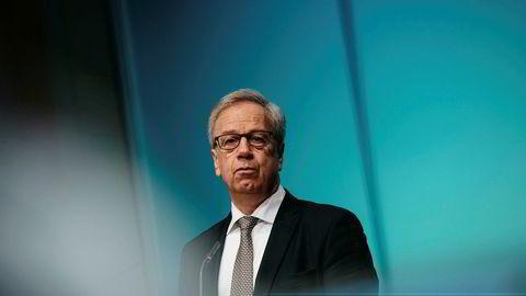 Sentralbanksjef Øystein Olsen legger frem rentebeskjeden kl. 10.00 torsdag. Her fra rentemøte og pengepolitisk rapport 1/19  i mars.