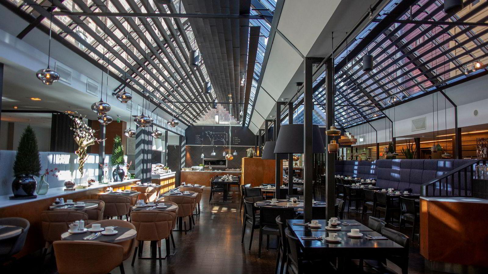 Frokostsalen er romslig og hyggelig på Radisson Blu Royal Hotel i Bergen.