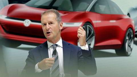 Volkswagen-sjef Herbert Diess har stor tro på selskapets satsing på elbiler.
