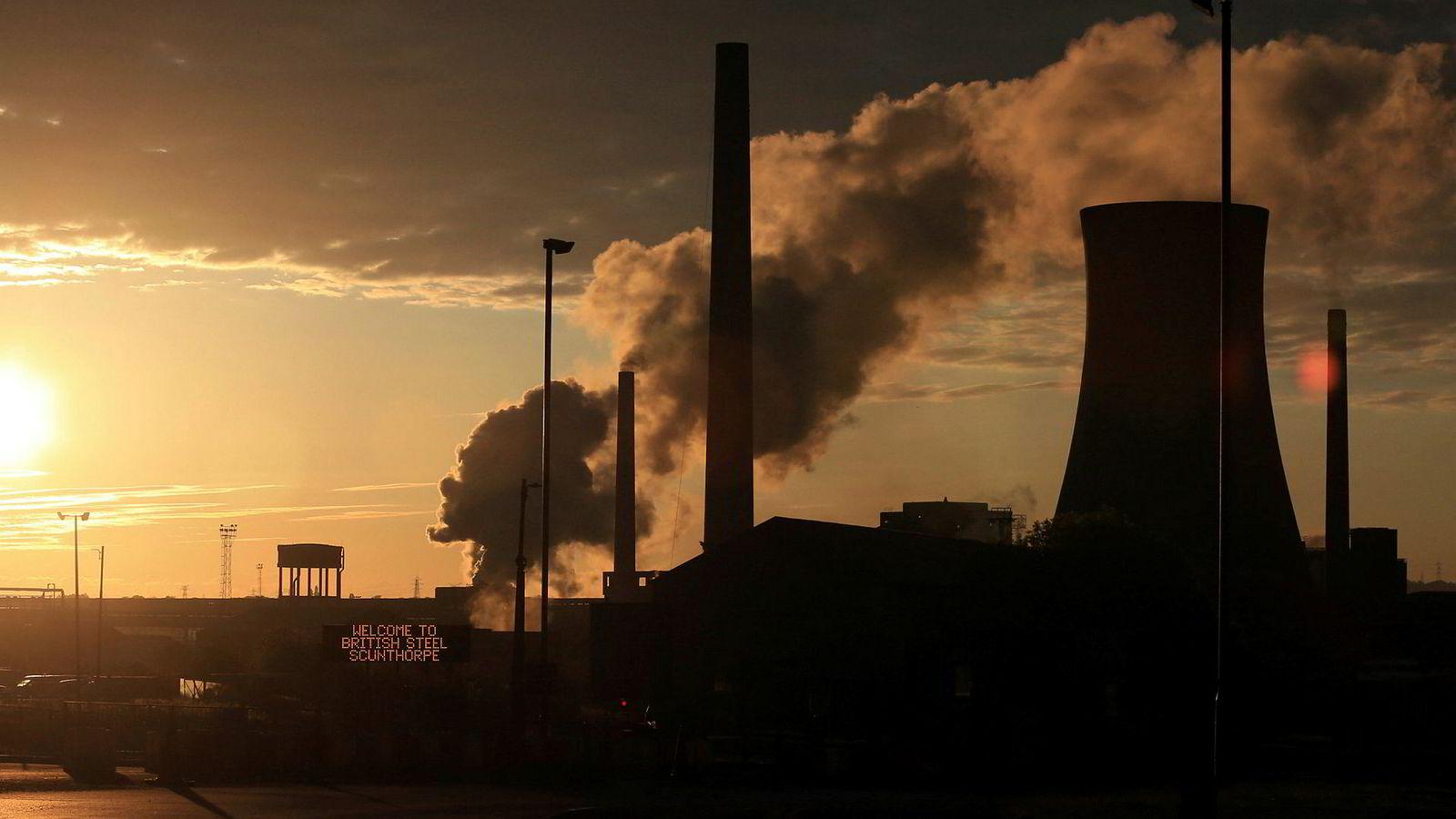 Scunthorpe-anlegget til British Steel i Storbritannia.