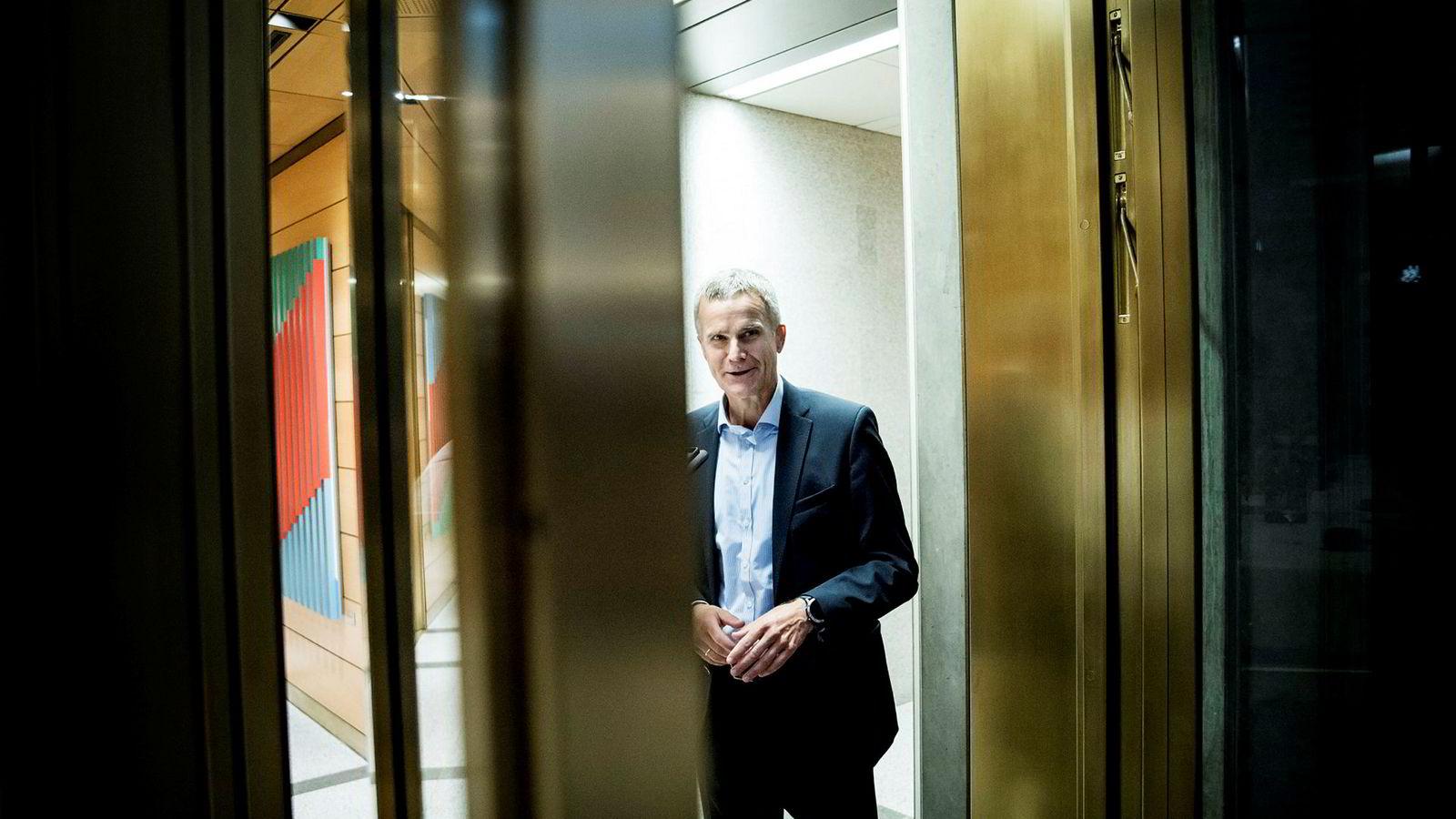 Styreleder for BP, Helge Lund, deltok i en konferanse arrangert av Oljefondet onsdag.
