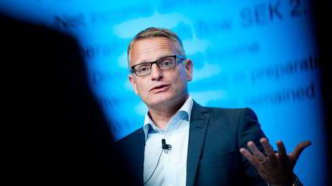 Ericsson-sjef Jan Frykhammar la onsdag frem resultatvarsel om salgssvikt.                    Foto: Annika af Klercker/TT/