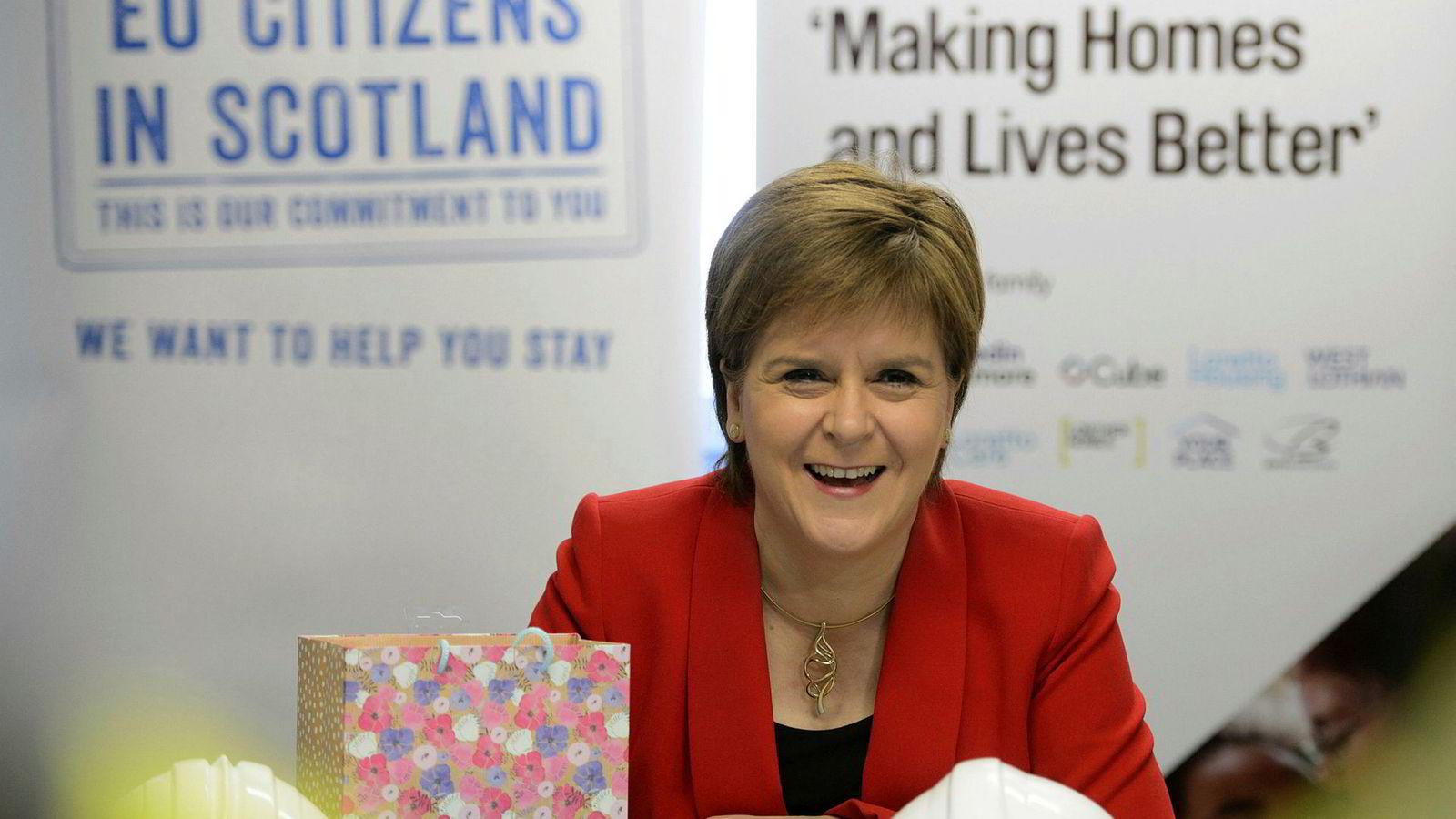 Nicola Sturgeon vil ha en ny folkeavstemning i Skottland.