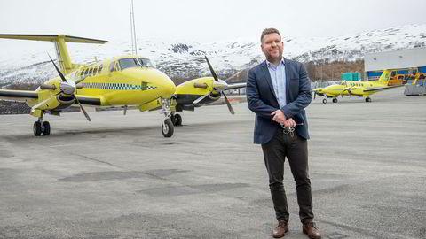 Administrerende direktør Frank Wilhelmsen i Lufttransport gleder seg over nyheten om at så mange blir med til Babcock.