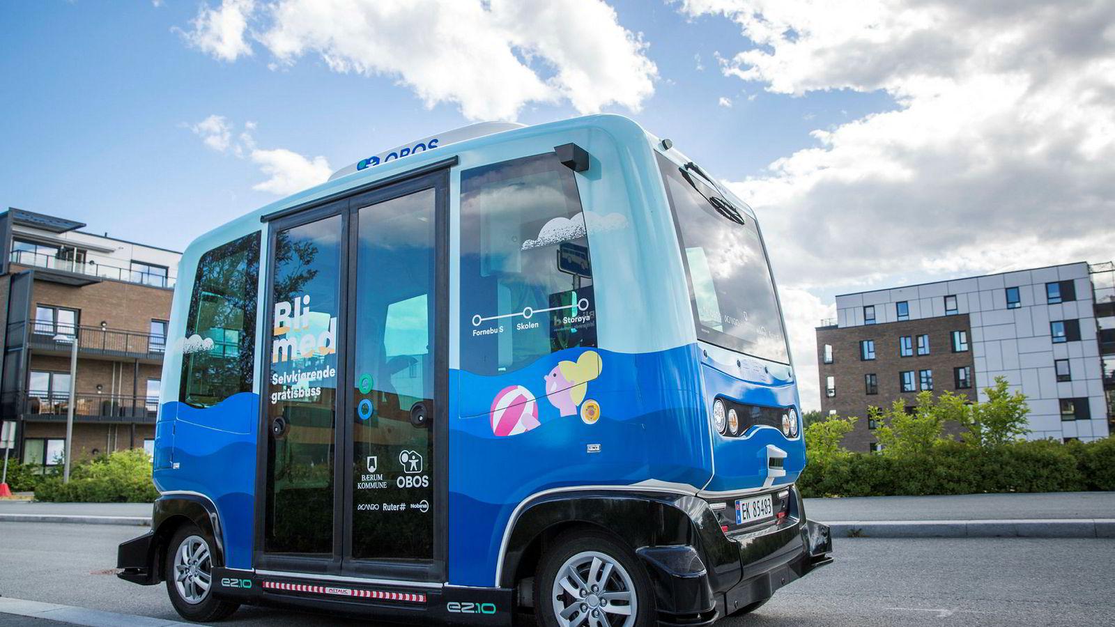 Pilotprosjektet med selvkjørende buss på Fornebu skapte mange farlige situasjoner.