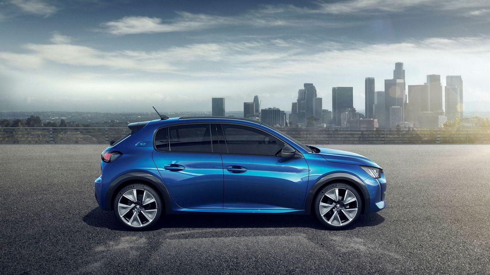 Peugeot e-208 vil konkurrere mot elbiler som Renault Zoe.