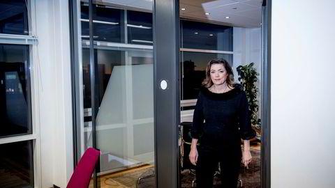 Da hun var NHO-sjef fikk Kristin Skogen Lund en gang støt hver gang hun snakket vanskelig, i en innholdsmarkedsføringskampanje laget av VG Partnerstudio. Nå er hun tilbake på eget kontor i VG-bygget.