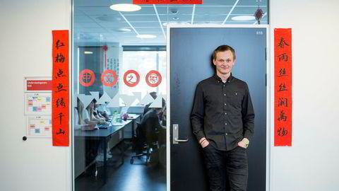 VGS-elev Hugo Furnes ved Amalie Skram videregående skole i Bergen studerer kinesisk.