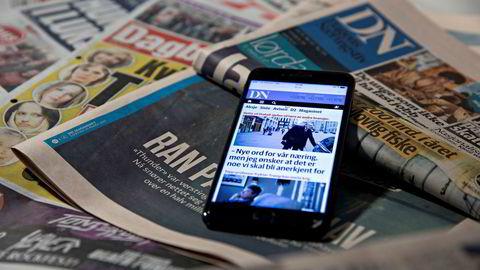 Ifølge Medietilsynet fortsetter det å gå nedover for salg av aviser.