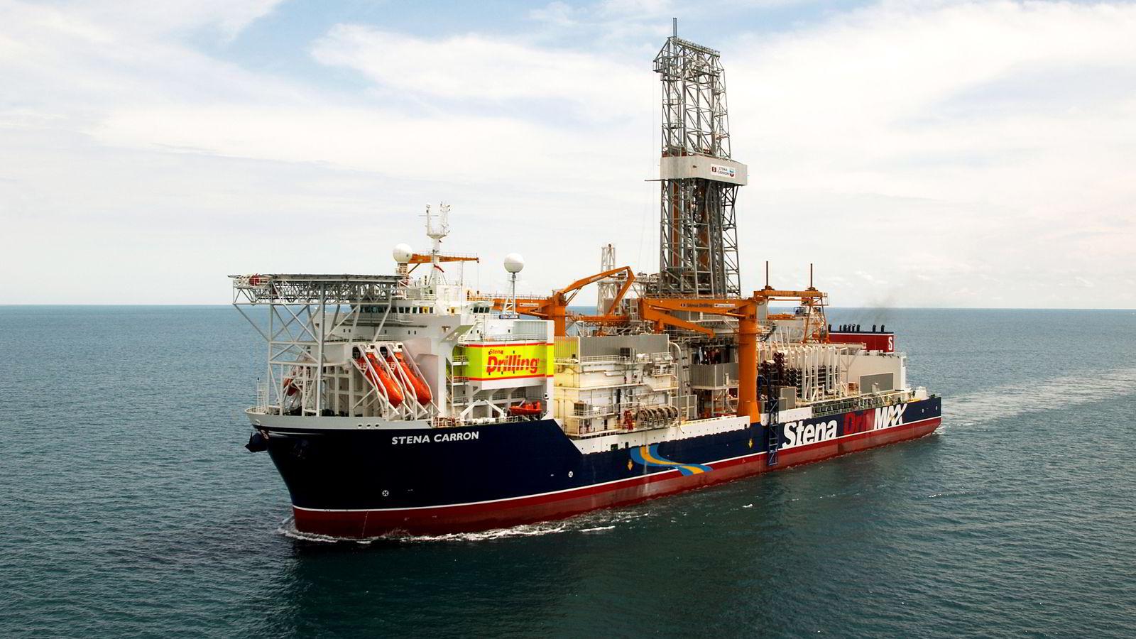 """DYR AFFÆRE. """"Stena Carron"""" kostet 680 millioner dollar å bygge da boreskipet var ferdig i 2008. Nå kansellerer Statoil en langsiktig borekontrakt og tar tap tilsvarende halve byggekostnaden."""