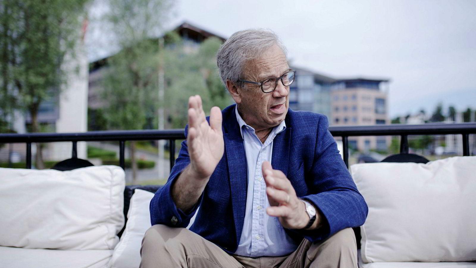 Sentralbankene ønsker nå å stramme til, og det underbygges med bekymring for fremtidig inflasjon. Her Norges sentralbanksjef Øystein Olsen.