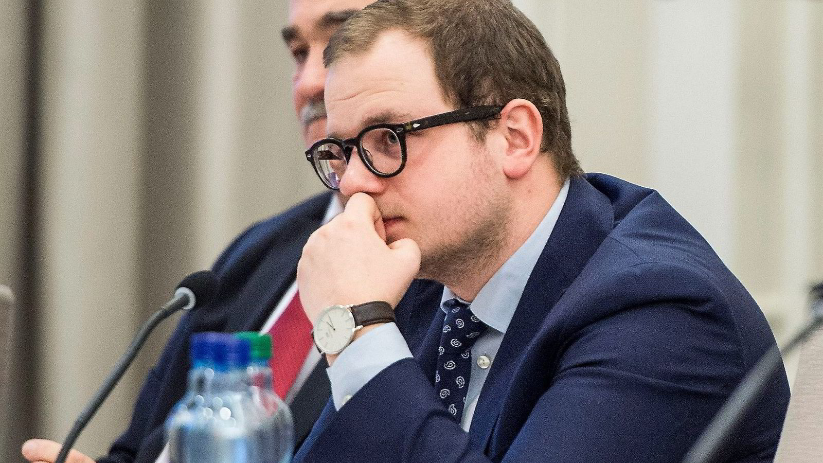 Stortingsrepresentant Erik Skutle (H) under en høring i Kontroll- og konstitusjonskomiteen i Stortinget ifjor.