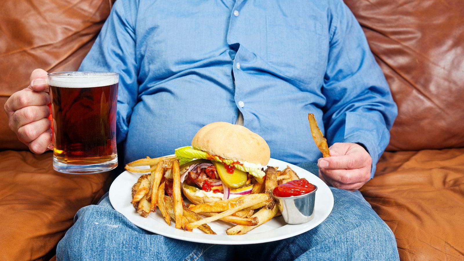 Usunn mat og lite mosjon bidrar til fedme og for tidlig død.