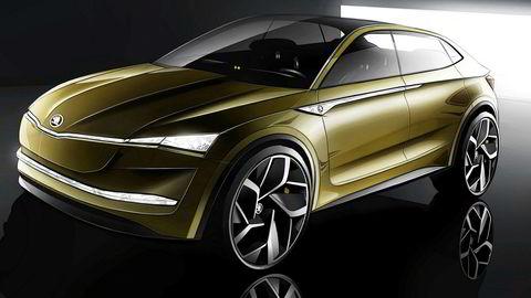 Dette er Skodas første elbil; konseptbilen Vision E.