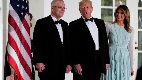 USAs president Donald Trump og førstedame Melania inviterte den australske statsministeren til statsmiddag i september. Trump skal ha lagt press på Australias statsminister Scott Morrison for å få hjelp til å sverte Russland-granskningen, ifølge New York Times.