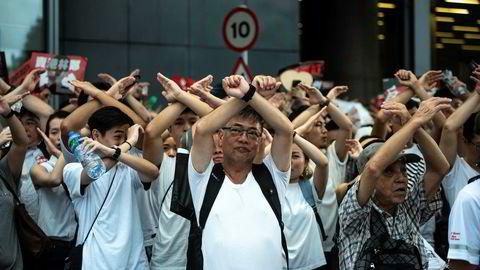 Demonstranter i Hongkong viste sin misnøye med et kontroversielt lovforslag som vil gjøre utleveringer til Kina lovlig.