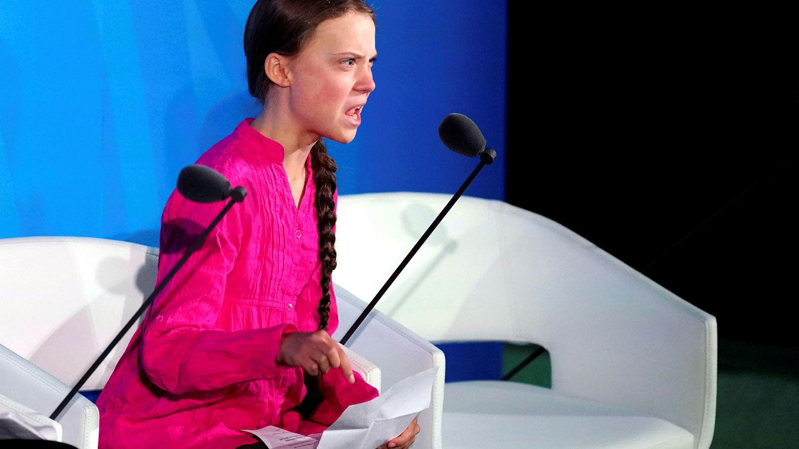 Klimaaktivisten Greta Thunberg får kritikk av Vladimir Putin.