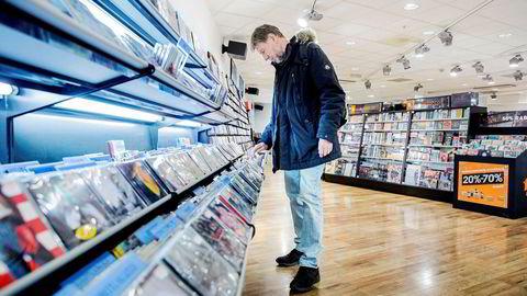 Bransjen for musikk, spill og dvd har de siste årene gjort store tilpasninger for å møte en ny markedssituasjon. Her er Platekompaniets butikk på Oslo City.