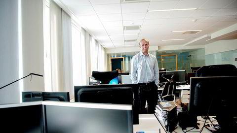 Forvalter Hans Thrane Nielsen i Storebrand er bekymret for utviklingen i en indeks i kredittmarkedet.