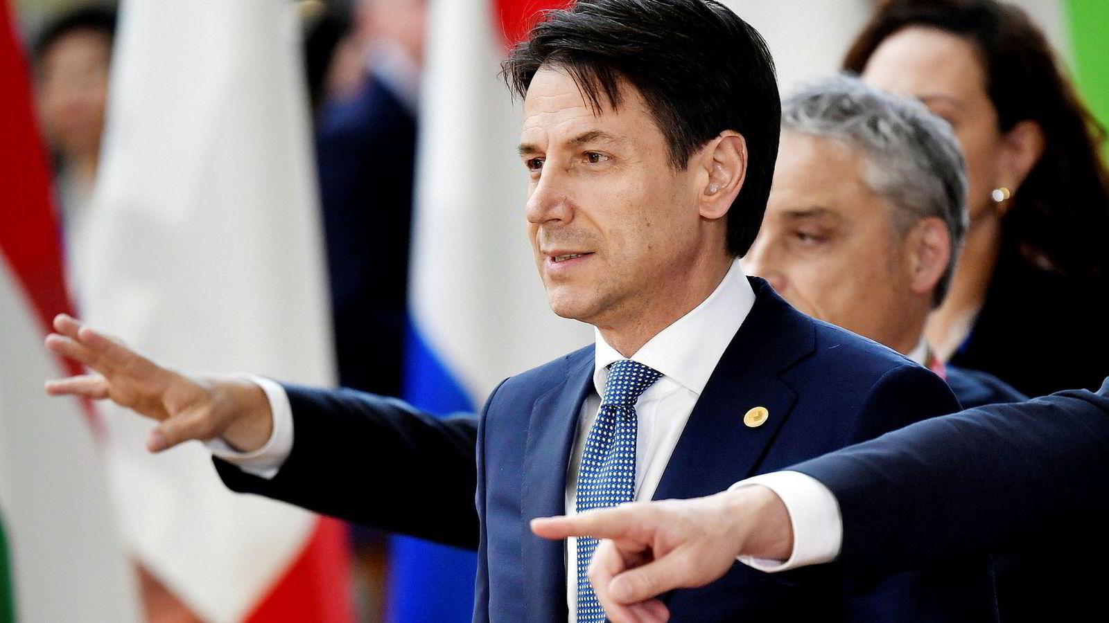 Italia, her ved statsminister Giuseppe Conte, har ikke latt seg presse av EU.