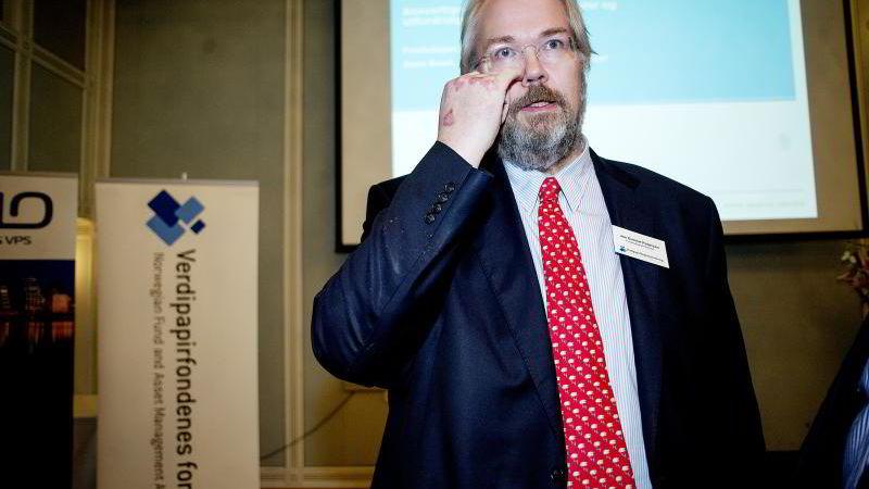 Statssekretær Jon Gunnar Pedersen i Finansdepartementet, her på Fondsdagen 2015.