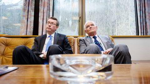 BYTTET EIER. Trond Mohn (til høyre) har solgt Frank Mohn as til Alfa Laval-sjef Lars Renström. Nå skal salgsgevinsten forvaltes «passivt».                    Foto: