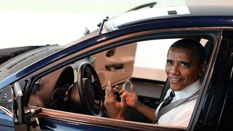 USAs president Barack Obama har stor tro på selvkjørende biler. Foto: Jewel Samad/AFP photo/NTB scanpix