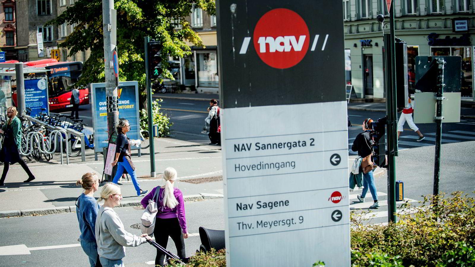 Her fra Navs kontor på Sagene, Oslo.