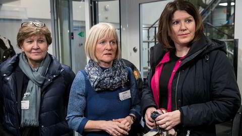 Leder for Fagforbundet i LO, Mette Nord og leder for hovedorganisasjonen Unio, Ragnhild Lied, reagerer sterkt på oppfordringen om å besinne seg fra Fellesforbundets Jørn Eggum. Sammen med Kari Sollien i Akademikerne organiserer de de fleste ansatte i offentlig sektor i Norge.