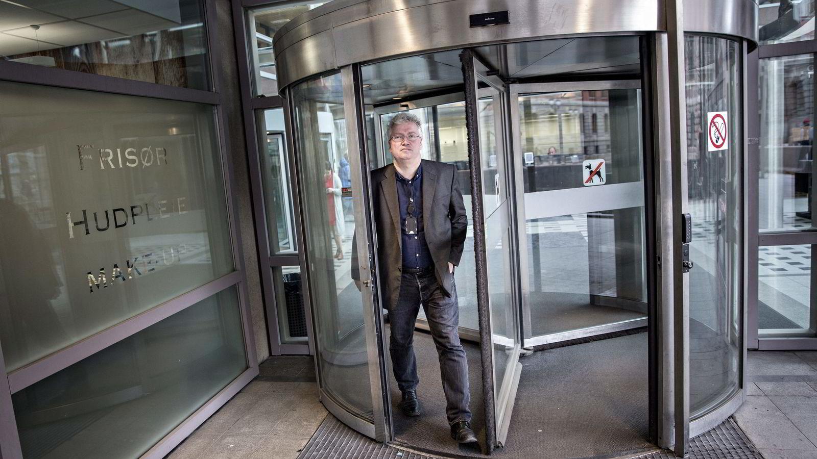 Journalist Per Anders Johansen i Aftenposten om Panama Papers avsløringene.               Foto: Aleksander Nordahl
