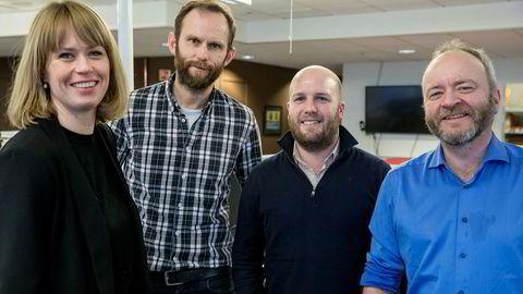 Marte Ramuz Eriksen, Bård Bjerkholt, Truls Oma Erichsrud og Thor Christian Jensen diskuterer hvor oljejobbene ble av i siste episode av podkasten Finansredaksjonen.