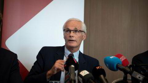 Konkurransedirektør Lars Sørgard sa på pressekonferansen torsdag morgen at Konkurransetilsynet har funnet det bevist at Telenor har misbrukt sin dominerende markedsposisjon.