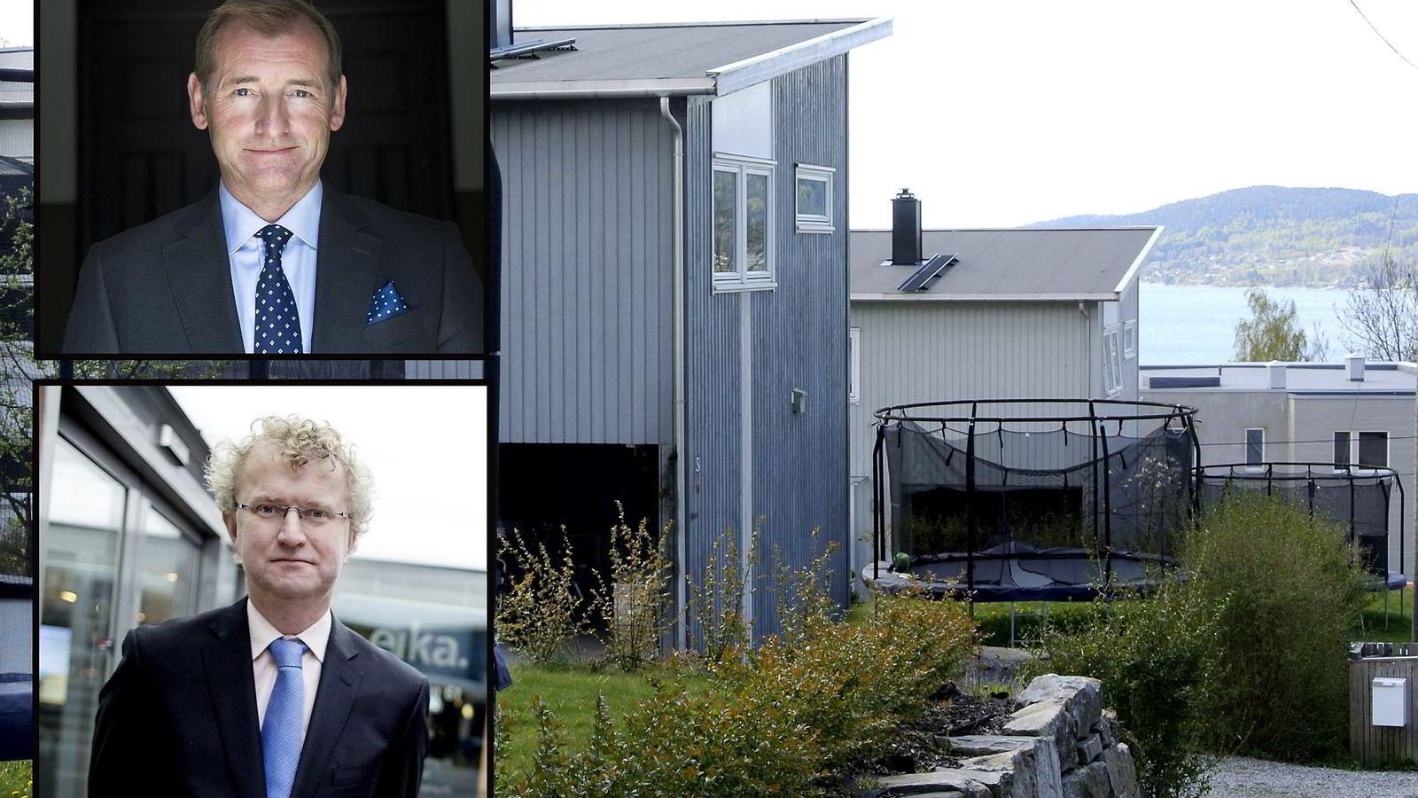 Carl O. Geving - direktør i Norges Eiendomsmeglerforbund.  og Jan Andreassen i Eika.