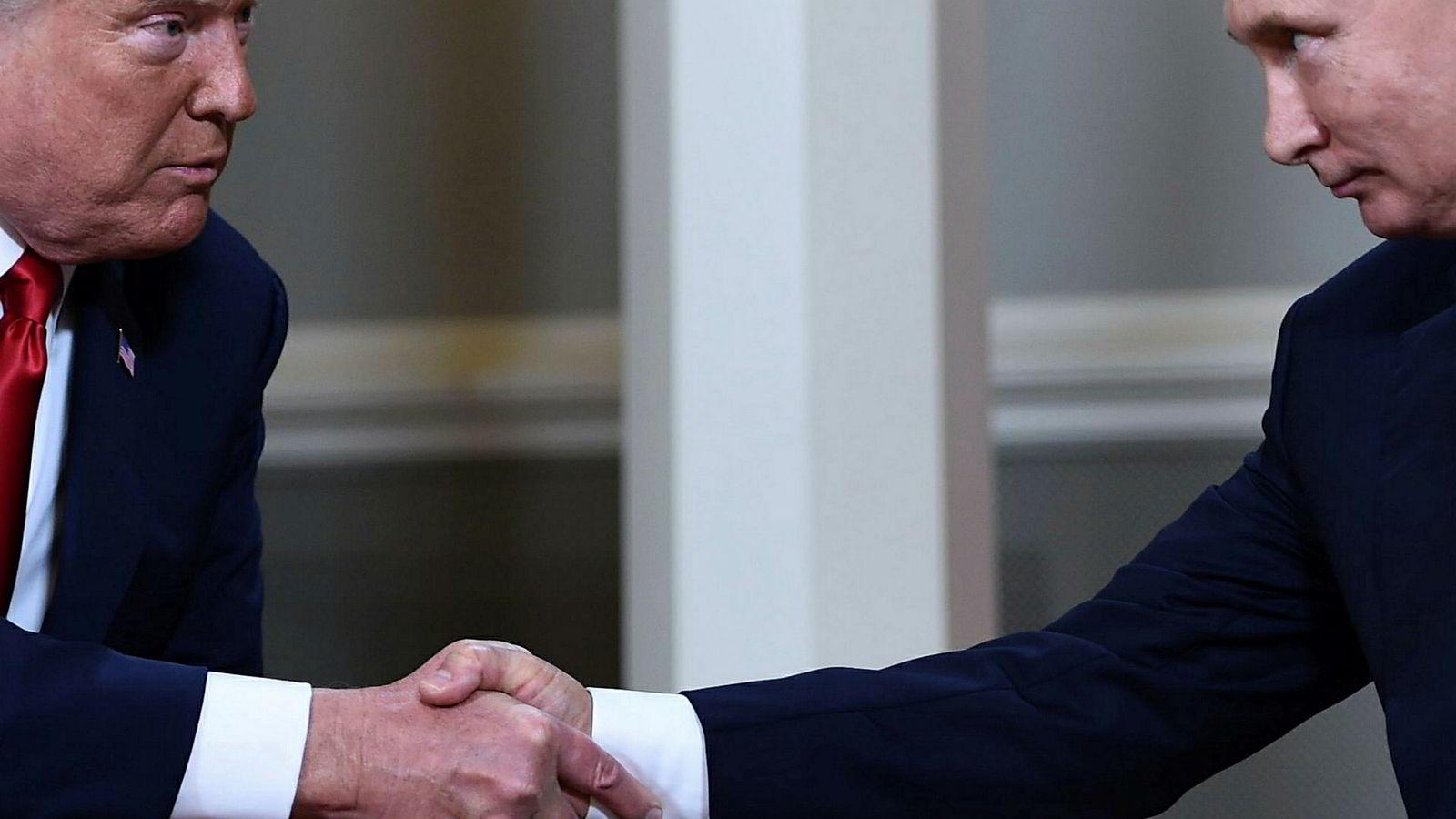 USA og Russland har begge trukket seg fra INF-avtalen. Her fra møtet mellom USAs president Donald Trump og Russlands presdident Vladimir Putin i Finland ifjor.